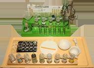 Учебное оборудование для школ. Комплект для начального обучения химии