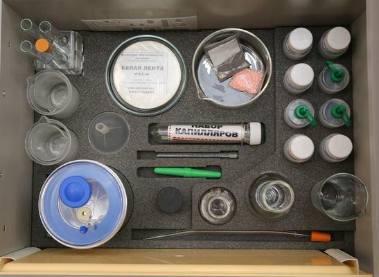 Ящик №1 «Лабораторная посуда» напольной тумбы