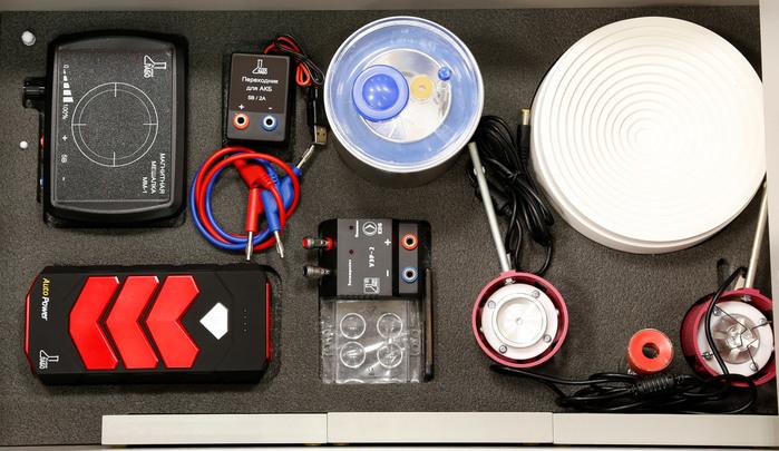 Ящик №4 напольной тумбы Лабораторного комплекса для учебной практической и проектной деятельности по химии