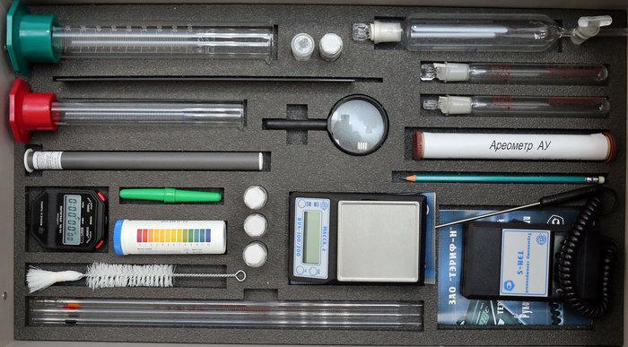 Ящик №2 напольной тумбы Лабораторного комплекса для учебной практической и проектной деятельности по химии